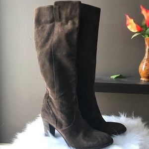 J. crew leather/ suede tall boots sz 9.5